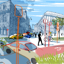 GREEN CITIES ON FAZ. A Illustration, Architectural illustration, and Editorial Illustration project by Carlo Stanga - 09.30.2020