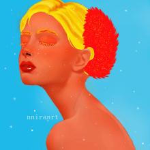 Color day. Un proyecto de Diseño, Concept Art, Dibujo de Retrato, Dibujo realista, Dibujo artístico y Dibujo digital de Jennifer Pupo Martínez - 02.10.2020