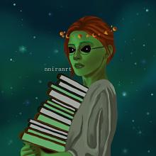 Alien . Un proyecto de Diseño, Dibujo de Retrato, Dibujo realista, Dibujo artístico y Dibujo digital de Jennifer Pupo Martínez - 02.10.2020