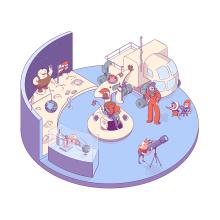 Space Invaders. A Illustration, Character Design, Digital illustration, Children's Illustration, and Editorial Illustration project by Javier Martín Sanz de Bremond - 03.29.2020