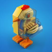 EL POLLO FELIZ. A 3-D, Grafikdesign, Spielzeugdesign, 3-D-Animation, 3-D-Modellierung, 3-D-Design und Art To project by Jorge Gonzales - 06.10.2020