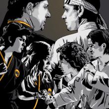 COBRA KAI. Um projeto de Ilustração, Ilustração vetorial, Design de cartaz, Ilustração digital e Ilustração de retrato de CranioDsgn - 07.10.2020