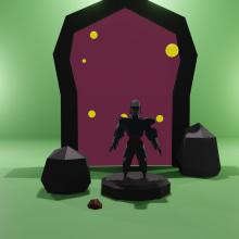 Poly Knigth The Hunter. Un proyecto de 3D y Fotografía publicitaria de Marcos Thimmig - 07.10.2020