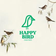 Happy bird. Um projeto de Design, 3D, Packaging, Design de produtos, Design de logotipo, Modelagem 3D e 3D Design de Pablo Antelo - 07.10.2020