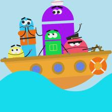 StoryBots - Ears - Estudio RONDA. A Illustration, Motion Graphics, Animation, Animation von Figuren, 2-D-Animation, Kreativität, Stor, telling und Kreativität mit Kindern project by Facundo López - 08.10.2020