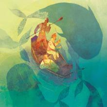 Moby Dick. Un projet de Illustration, Dessin au cra, on, Dessin, Aquarelle, Illustration jeunesse, Illustration d'encre , et Narration de Weberson Santiago - 11.10.2020