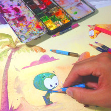 Futuro do Horácio - Maurício de Sousa. A Illustration, Pencil drawing, Drawing, Watercolor Painting, Artistic drawing, Children's Illustration & Ink Illustration project by Weberson Santiago - 10.11.2020