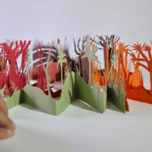 Pop-up box of The Elephant's Child by Rudyard Kipling. Un projet de Papercraft et Illustration jeunesse de Karishma Chugani - 13.10.2020