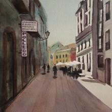 Mi Proyecto del curso: Paisajes urbanos en acuarela. Un progetto di Pittura ad acquerello di Mercedes Campo Andreu - 11.10.2020
