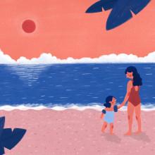 Madre, hija y mar. Un proyecto de Ilustración de Ariadna Cisternas Buenaño - 19.10.2020