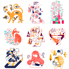 Haguruma - Impresión letterpress desde Japón.. Un progetto di Design, Illustrazione, Illustrazione vettoriale, Disegno a matita, Disegno e Illustrazione digitale di Carlos Arrojo - 19.10.2020