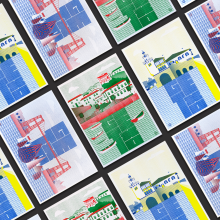 Ilustraciones Getxo. Um projeto de Criatividade, Design de cartaz, Ilustração digital e Lettering digital de Marilu Rodriguez Vita - 21.10.2020