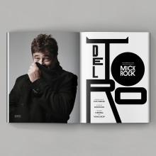 Del Toro by Mick Rock. Un proyecto de Dirección de arte, Diseño editorial, Diseño gráfico, Tipografía y Diseño tipográfico de Diego Pinilla Amaya - 22.10.2020