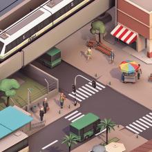 Informe Corporativo Metro de Medellín. Um projeto de Direção de arte, Design gráfico, Modelagem 3D e Design de personagens 3D de Estudio Agite - 13.03.2015