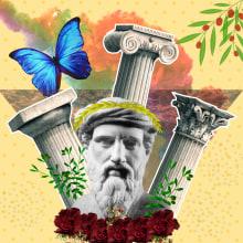 Colunas gregas . Un projet de Architecture, Beaux Arts, Collage et Infographie de Jessana Moccelini - 24.10.2020