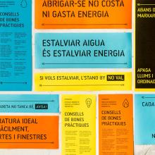 Matatón de ahorro energético. Um projeto de Design, Design gráfico, Señalética, Diseño de iconos, Design de cartaz e Comunicación de Núria Vila Punzano - 29.10.2017