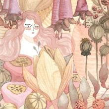 Botanical Illustration. Um projeto de Ilustração, Pintura em aquarela e Ilustração botânica de Pepa Espinoza - 29.10.2020