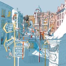Venerdì di Repubblica Cover. A Illustration, Architectural illustration, and Editorial Illustration project by Carlo Stanga - 10.29.2020