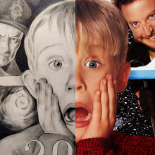 2020 - Solo en casa - Halloween. Un proyecto de Ilustración de retrato e Illustración editorial de Anabel Najar Colom - 31.10.2020