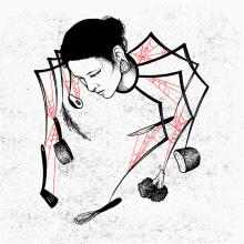 Squarespace X LWLies . A Illustration, Portrait illustration & Ink Illustration project by Sophie Mo - 04.29.2020