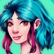 Minha versão! . Un proyecto de Creatividad, Ilustración digital y Dibujo de Retrato de Karine Habib - 04.11.2020
