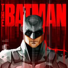 The Batman. Alternative Poster.. A Kino, Vektorillustration und Digitale Illustration project by Sergio Picazo Ferro - 06.11.2020