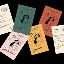 Sambrosa: diseño de la identidad gráfica completa de un restaurante mexicano.. Um projeto de Design editorial e Design gráfico de Victoria Ivaldy - 06.11.2020