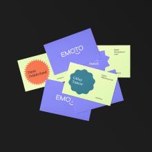 Emoto. A Br, ing und Identität, Webdesign und Icon-Design project by María Dobarro Bello - 06.11.2020