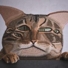 Gatos y Perros V. Um projeto de Design de personagens, Artes plásticas, Colagem e Ilustração de retrato de Lola Dupre - 08.11.2020
