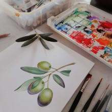 Mi Proyecto del curso: Ilustración botánica con acuarela. A Illustration, and Botanical illustration project by Marcela Burgos - 11.09.2020