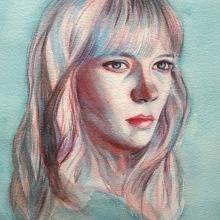 Mi Proyecto del curso: Retrato artístico en acuarela. Un progetto di Pittura ad acquerello di Mercedes Campo Andreu - 15.11.2020