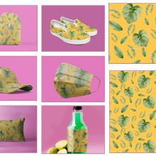 Hojas en armonía. Mi Proyecto del curso: Acuarela botánica para estampados. A Illustration project by Loli Crespo - 11.15.2020