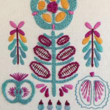 Mi Proyecto final, Teoría del color para proyectos textiles . A Embroider, and Color Theor project by Angelica Castro C - 11.16.2020