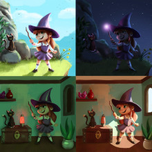 Mi Proyecto del curso: Principios de iluminación para pintura digital . Un progetto di Illustrazione , e Graphic Design di Solana Rey - 18.11.2020