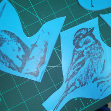 Mi Proyecto del curso: Carvado de sellos y técnicas de estampación. Un progetto di Creatività di monica calado - 18.11.2020