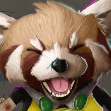 YOSHIO the post-apocalyptic Red Panda. Un proyecto de Ilustración digital de Pablo de Scals - 18.11.2020