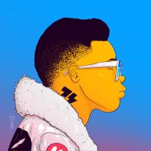 REDsistance 013. A Illustration, Design von Figuren, Zeichnung, Porträtzeichnung, Digitales Design und Digitale Zeichnung project by Gabriel Suchowolski · microbians - 18.11.2020