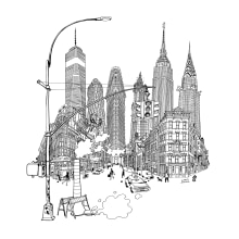 IMAGINE NEW YORK -Solo Show at Bonvini1909. A Illustration, Artistic drawing, Architectural illustration & Ink Illustration project by Carlo Stanga - 11.20.2020