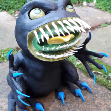 Art Toy Creation: Boris The Demon Frog. A Art To, and s project by Young Kauri - 11.22.2020