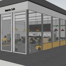 Matcha Café . Un proyecto de Decoración de interiores de Juliane De Cápua Scatolao - 23.11.2020
