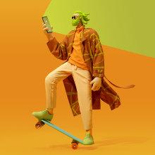 """""""Bianka"""" - Humanismo Digital. A 3-D, Mode, Animation von Figuren, Modedesign, 3-D-Modellierung, Design von 3-D-Figuren und 3-D-Design project by Jaime Alvarez Sobreviela - 25.11.2020"""