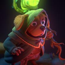 Wiggy the Dog. A 3-D, Animation, Animation von Figuren, 3-D-Modellierung und Design von 3-D-Figuren project by Antonio Dell'Aquila - 25.11.2020