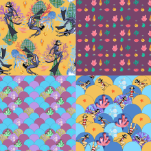 My project in Illustrated Pattern Design course. A Illustration, and Pattern Design project by Agne Latinyte - 09.22.2020
