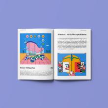 Internet. Un projet de Illustration, Conception éditoriale, Dessin, Illustration numérique, Dessin numérique et Illustration éditoriale de Sonia Cabré - 30.11.2020