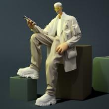"""""""Neón"""" - Humanismo Digital. A 3-D, Design von Figuren, Animation von Figuren, 3-D-Animation, Design von 3-D-Figuren und 3-D-Design project by Jaime Alvarez Sobreviela - 01.12.2020"""