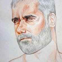 RETRATO CON LÁPICES DE COLORES. A Bleistiftzeichnung und Porträtzeichnung project by Pedro Jimenez Madrid - 01.12.2020