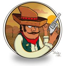 Bandido. Un proyecto de Ilustración digital y Dibujo digital de Sebastian Hernández - 27.07.2013