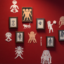 Wild Women Paper Cuts. A Illustration, Bildende Künste und Kartonmodellbau project by Karishma Chugani - 09.12.2020