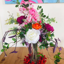 My project in Design and Creation of Floral Compositions course. A Fine Art project by Rozmari Pantzi - 12.12.2020