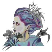Meu projeto do curso: Retrato ilustrado em aquarela. Un proyecto de Pintura a la acuarela e Ilustración de retrato de JULIANA PEGLOW HEIN - 17.12.2020
